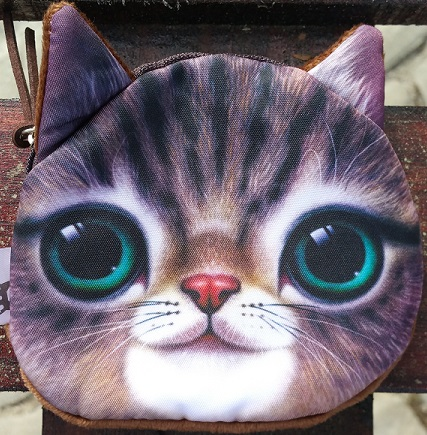 CatBagz.com Cat Faced Coin Bags Percy Style