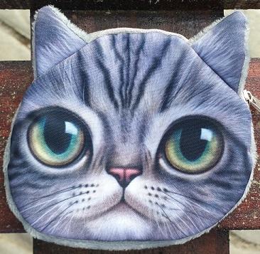 CatBagz.com Cat Faced Coin Bags Sam Style