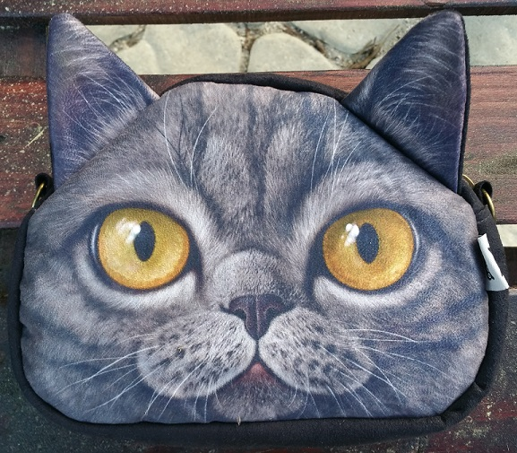 CatBagz.com Cat Faced Cross Body Max Style Zoomed