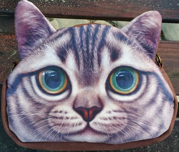 CatBagz.com Cat Faced Cross Body Carl Style Zoomed
