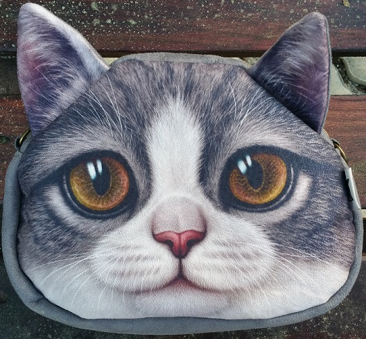 CatBagz.com Cat Faced Cross Body Scooter Style Zoomed