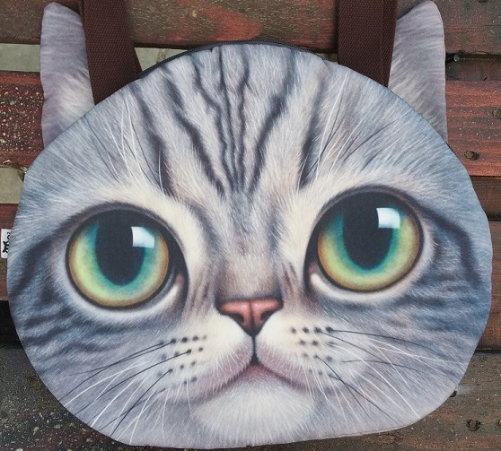 CatBagz.com Cat Faced Tote Sam Style. Zoomed