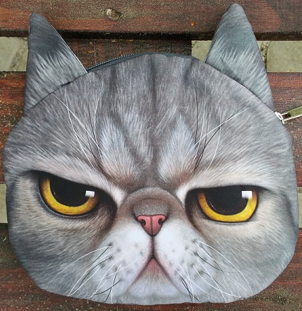 Cat Faced Chain Bag Smokey Style