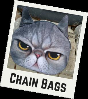 Cat Faced Chain Purse