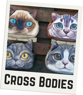 CatBagz.com Cat Faced Cross Body Bags